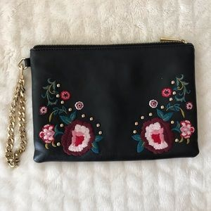 Express Floral Embroidered Clutch